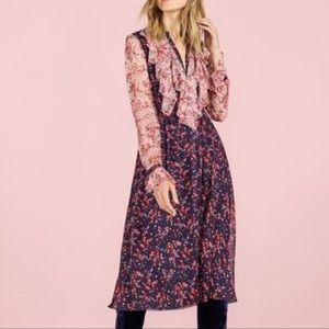 Boden Icons Winifred 100% Silk Floral Midi Dress